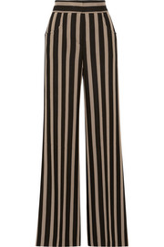 Etro Striped grain de poudre wide-leg pants