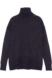 Etro Metallic knitted turtleneck sweater