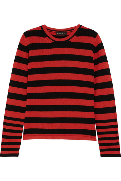 Etro - Striped Knitted Sweater - Red