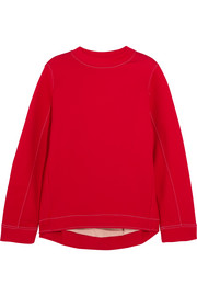 Oversized cotton-blend jersey sweatshirt