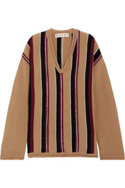 Marni Oversized striped wool sweater