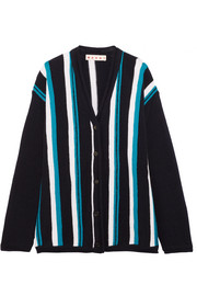 Marni Oversized striped wool cardigan