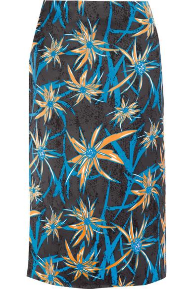 Marni - Ryon Printed Satin Skirt - Blue