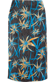 Marni Ryon printed satin skirt
