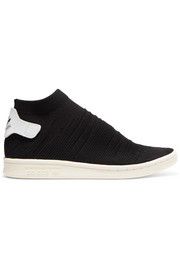 adidas Originals Stan Smith Shock leather-trimmed Primeknit slip-on sneakers
