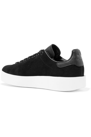 28383d652db4 adidas Originals. Stan Smith Bold leather-trimmed suede sneakers. €58.53.  Zoom In