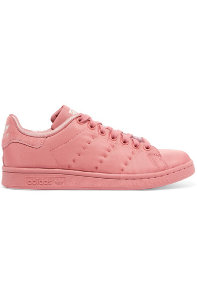 Stan Smith Suede Trimmed Sateen Sneakers by Adidas Originals