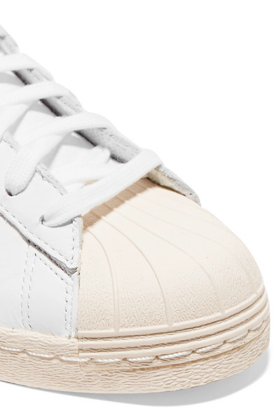 Adidas Originals Superstar Sneakers In Leather With Metallic Ribbon And Braid