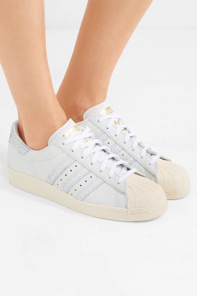 adidas Originals Superstar 80s Sneakers aus Nubukleder mit Besätzen aus Leder mit Schlangeneffekt