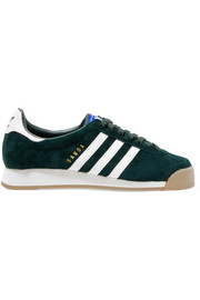 adidas Originals Samoa leather-trimmed suede sneakers