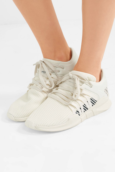 b3712c58b556 adidas Originals. EQT Racing ADV faux suede-trimmed stretch-knit and neoprene  sneakers