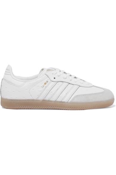 adidas Originals Samba Sneakers aus Leder mit Straußeneffekt und Velourslederbesatz