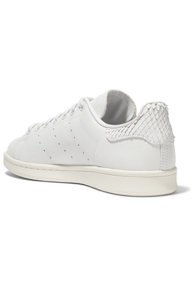 best service 217fd 07ffe adidas Originals. Stan Smith snake effect-trimmed leather sneakers. £45.  Zoom In