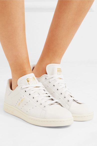 buy popular 6b8ae bd4ee adidas Originals | Stan Smith snake effect-trimmed leather ...