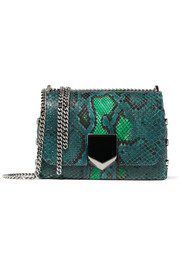 Jimmy Choo Lockett Petite python shoulder bag