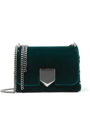 Jimmy Choo Lockett Petite velvet shoulder bag
