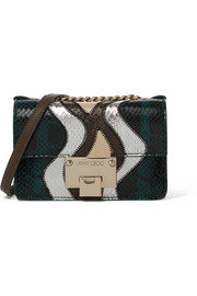 Jimmy Choo Rebel Soft mini watersnake shoulder bag
