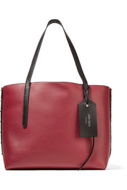 Jimmy Choo Twist East West color-block textured-leather tote