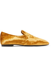 The Row Alys velvet loafers