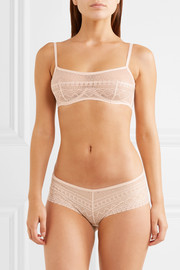 Eres Eclectic jersey-paneled stretch-lace underwired bra