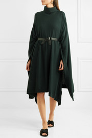 Compagnon wool and cashmere-blend poncho