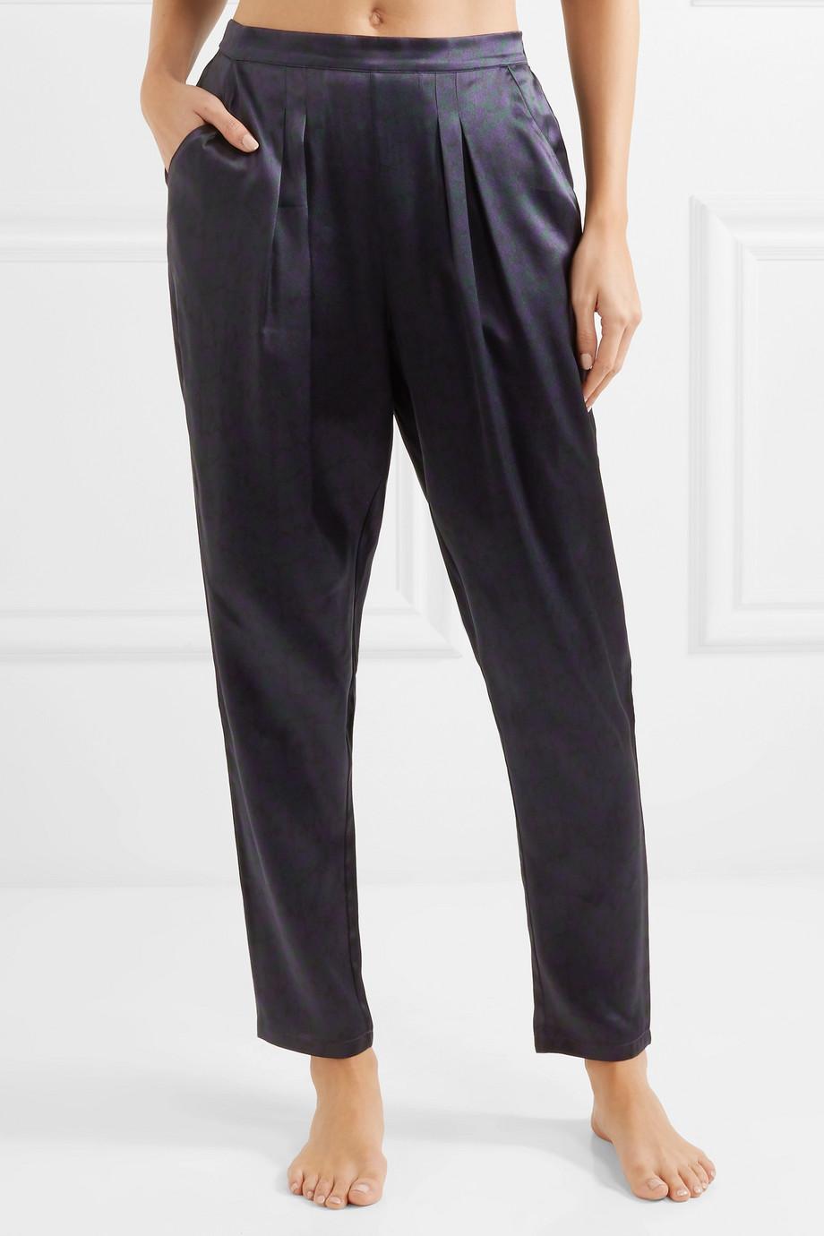 Eres Ready leopard-print silk-satin pajama pants