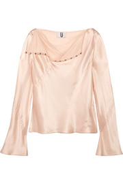 Silk-satin top