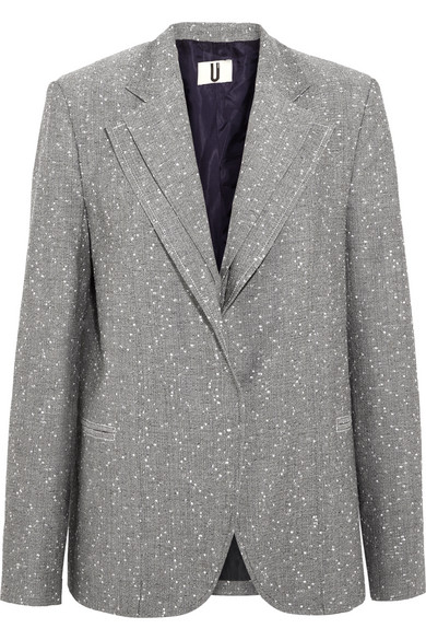 Layered Wool Blend Tweed Blazer by Topshop Unique