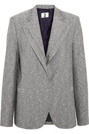 Layered wool-blend tweed blazer