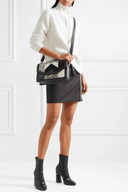 K/Klassic elaphe, suede and leather shoulder bag