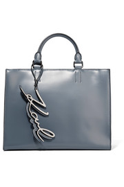 K/Metal leather tote