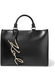 Karl Lagerfeld K/Metal leather tote