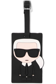 Karl Lagerfeld K/Ikonic rubber luggage tag