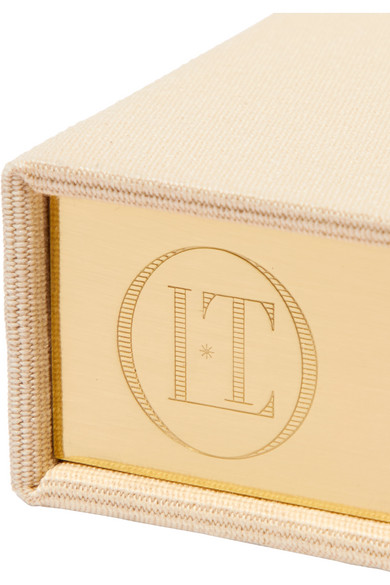 OLYMPIA LE-TAN Meine Lieblingsmorde Appliquéd Cotton-Faille Clutch in Cream