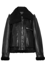 Acne Studios Lore shearling-lined leather coat