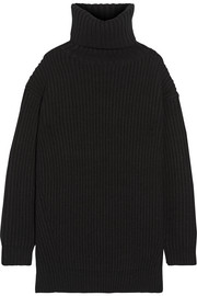 Disa oversized ribbed wool turtleneck sweater