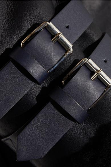 Acne Studios Velocite Jacke aus Shearling mit Lederbesatz