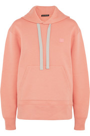 Acne Studios Ferris oversized appliquéd cotton-jersey hooded top