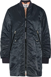Acne Studios Coos ruched shell bomber jacket