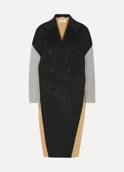 Cales color-block wool and cashmere-blend coat