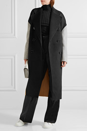 Acne Studios Cales color-block wool and cashmere-blend coat