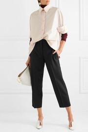 Acne Studios Cropped wool-twill straight-leg pants