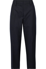 Trea pinstriped wool-twill straight-leg pants