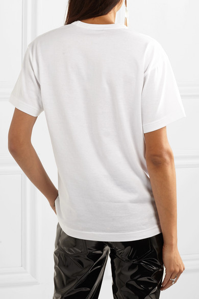 Acne Studios Nash Face T-shirt In Cotton Jersey With Application