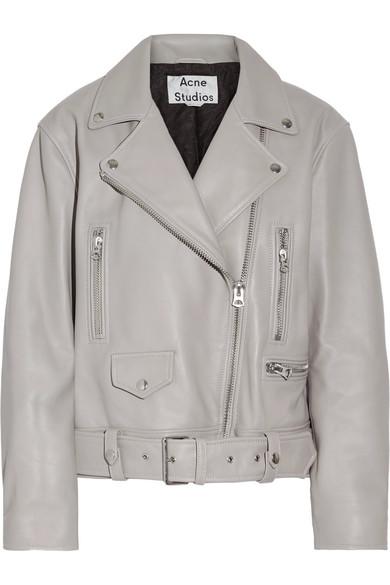 691ce93f9 Merlyn oversized leather biker jacket