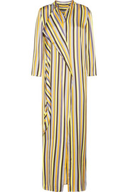 Doree Long striped satin maxi dress