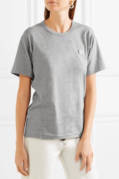 Acne Studios Nash Face T-Shirt aus Baumwoll-Jersey mit Applikation