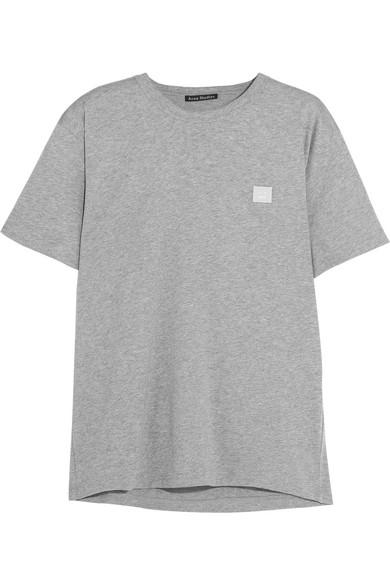 Acne Nash Appliquéd Cotton-jersey T-shirt - Black PQvlZ