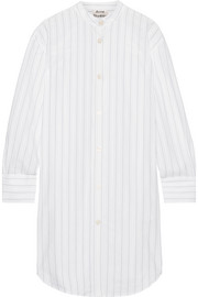 Acne Studios Diede pinstriped cotton-jacquard shirt dress