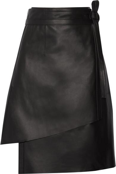 Acne Studios | Lakos leather wrap skirt | NET-A-PORTER.COM